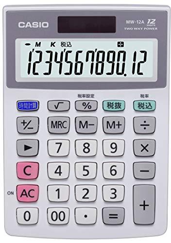 カシオ 電卓 ミニジャストタイプ 12桁 MW-12A-N