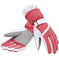 Simplicity Women's Thinsulate Insulated Lined Waterproof Outdoors Ski Gloves