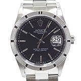 [ロレックス]ROLEX メンズ腕時計 オイスターパーペチュアルデイト 15210 P番(2000年製)ブラック(黒)文字盤 OH済【中古】