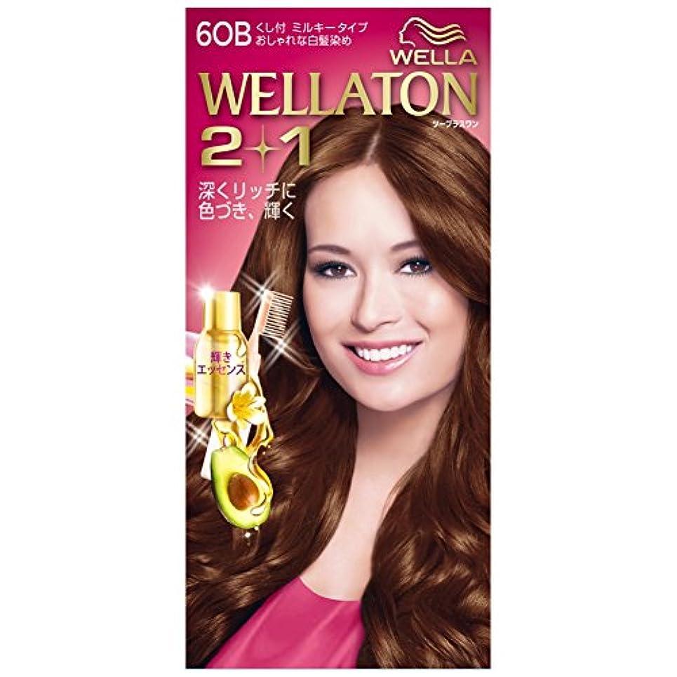 美容師マグエミュレーションウエラトーン2+1 白髪染め くし付ミルキータイプ 6OB