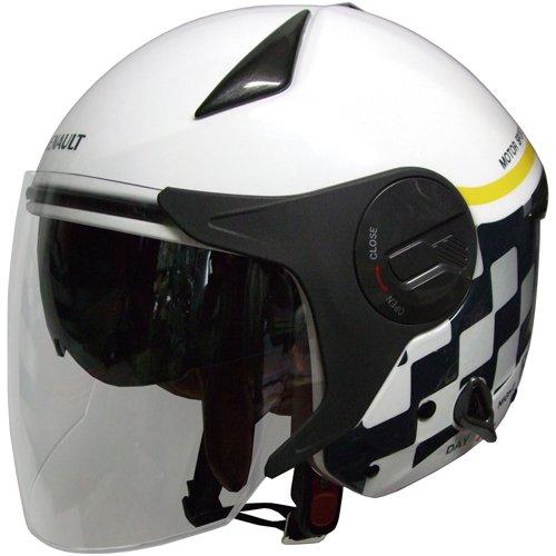 FS RN-999W ルノー Wシールドジェットヘルメット ホワイト CAAABA_FLPNVD