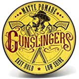 Gunslingers Vegan Friendly, Matte Pomade the Ultimate Versatile Styler with a High Hold and a Low Shine, 75ml
