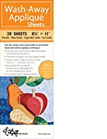 Wash-Away Applique Sheets: Printable; Water Soluble; Single Sided; Fusible; Eco-friendly