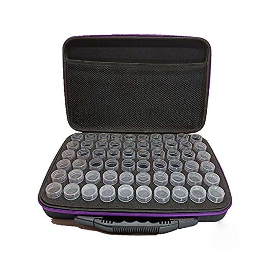 チョークミンチ包括的エッセンシャルオイルボックス レザーハードシェル?オイル?オイル外部ストレージ管理地殻外部ストレージ統合袋 アロマセラピー収納ボックス (色 : 紫の, サイズ : Free size)