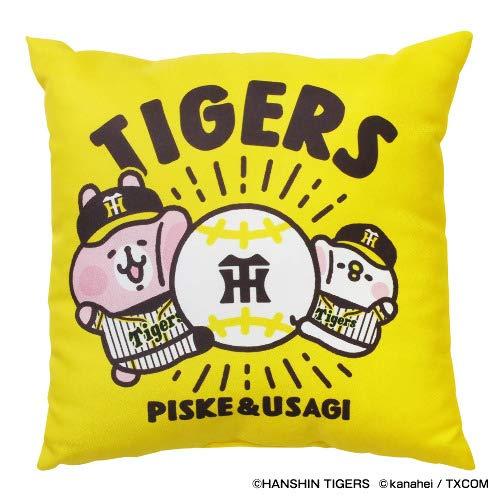 Space Age 阪神タイガース グッズ カナヘイの小動物 ピスケ&うさぎ × タイガース クッション -