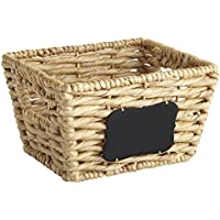 Pier 1 Imports Bryant Basket with黒板 S ベージュ 2871340