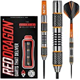 Red Dragon Amberjack 5: 24g Tungsten Steel Darts Set with Flights, Shafts, Wallet, Checkout Card