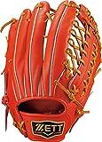ZETT(ゼット) 野球 硬式 グラブ (グローブ) プロステイタス 外野手用 (右投げ用) ディープオレンジ×オークブラウン(5836) LH BPROG77