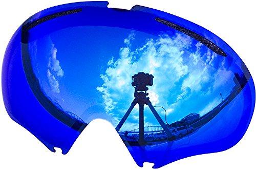 オークリー A FRAME2.0 ゴーグル用交換レンズ BLUE MIRROR
