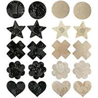 Tinksky Pasties Bra Disposable Sexy Flower Pasties Self Adhesive Stickers Nipple Cover Stickers 10 Pairs