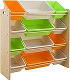 おもちゃ箱 ラック 4段 キャロット 幅86.2×奥行31×高さ71cm THR-4CA