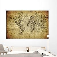 """ヴィンテージマップ世界1814壁壁画by Wallmonkeys Peel and Stickグラフィックwm234967 72""""W x 48""""H - Colossal GEN-13409-72"""