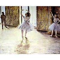 ドガ 「ダンスの稽古」 原画同縮尺近似(15号) (世界の名画PREHARDデジタグラフ)F-W51木調