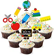 Cupcake Toppers Decoration Cupcake Toppers Kids Back to School Cupcake Toppers Birthday Party 9 Pack