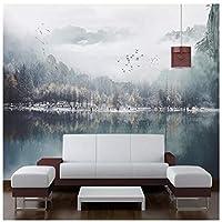 Mrlwy インク風景画テレビ背景壁壁画壁紙壁画-400X280cm