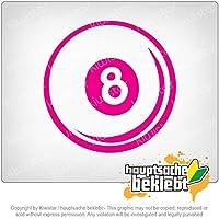 8球 8 ball 11cm x 11cm 15色 - ネオン+クロム! ステッカービニールオートバイ