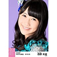 AKB48 回遊魚のキャパシティ netshop 生写真5枚 西野未姫