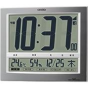 シチズン 電波 置き ・ 掛け時計 デジタル パルデジットワイド140 大型 表示 温度 湿度 カレ...