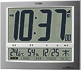 CITIZEN 高精度温湿度計 見やすい9セグメント電波時計 パルデジトワイド140 8RZ140-019