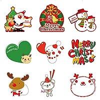 10個入り/セットクリスマスステッカークリスマスParyデコレーションステッカーアート壁画サンタクロースエルククリスマスツリーミックスのパターンのホームインテリアを送ります