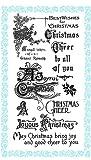 クリスマスの挨拶 - ジョイフルクリスマス ~ クリアスタンプ (9x18cm) // Christmas Greetings - Joyful Christmas ~ Clear stamps pack (9x18cm) FLONZ