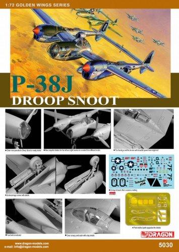 1/72 P-38J ライトニング ドループ スヌート