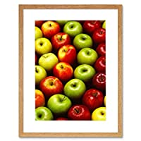Photo Apple Fruit Red Green Food Home Framed Wall Art Print