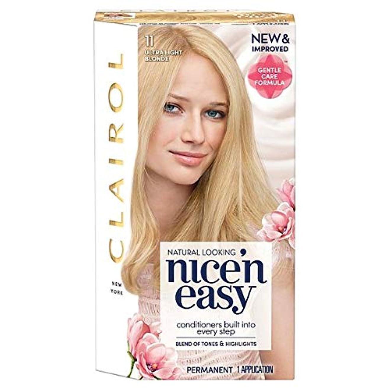 リブ急流キャンペーン[Nice'n Easy] クレイロール素敵な「N簡単超軽量ブロンド11ヘアダイ - Clairol Nice 'N Easy Ultra Light Blonde 11 Hair Dye [並行輸入品]