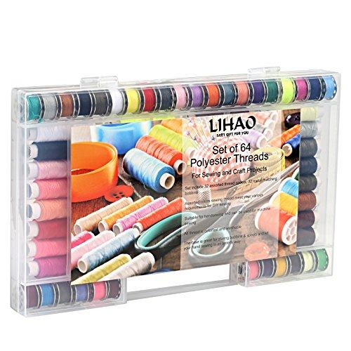 LIHAO 手縫い系 ミシン系 64個セット 32色の100...