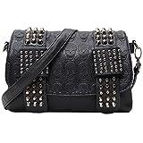 liangdong-shop レディーズ ファッション クール スカルパターン ショッピング パーティー クラッチ ショルダーバッグ ハンドバッグ Handbag Shoulder Bags(ブラック-モデル5)