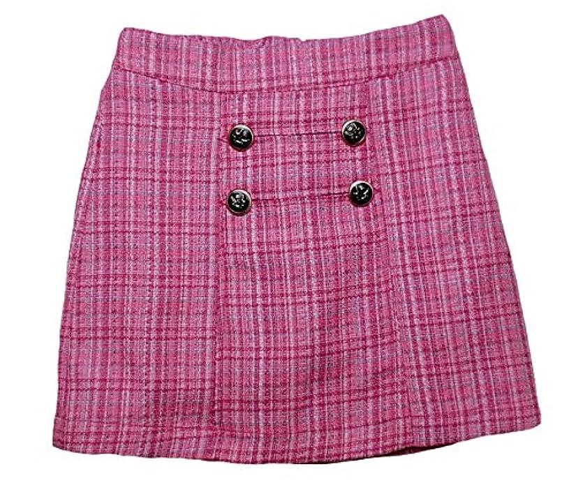 衝撃晴れパイプライン英国調のお嬢様フォーマルタイトスカート(濠Du)ピンクチェック110cm