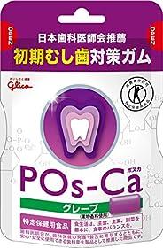 [トクホ] 江崎グリコ ポスカ<グレープ>エコパウチ 初期虫歯対策ガム