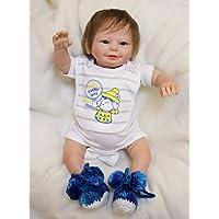 Pursue Baby Poseable LifelikeベビーBoy Doll Happy Smiling、20インチソフトビニールリアルなWeighted新生児赤ちゃんwith Hair