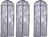 ウエディング ドレス カバー 3枚 ( 透明 1.5M )( 大きな ドレス 収納 保管 に )( ドレスカバー 花嫁 結婚式 ウエディングドレス ブライダル アクセサリー )