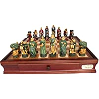 L2032DR Dal Rossi Italy Robin Hood Chess Set with Drawers 20