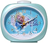 Disney 目覚まし時計 アナと雪の女王 アナログ表示 連続秒針 パールブルー DIA-5559-16AE