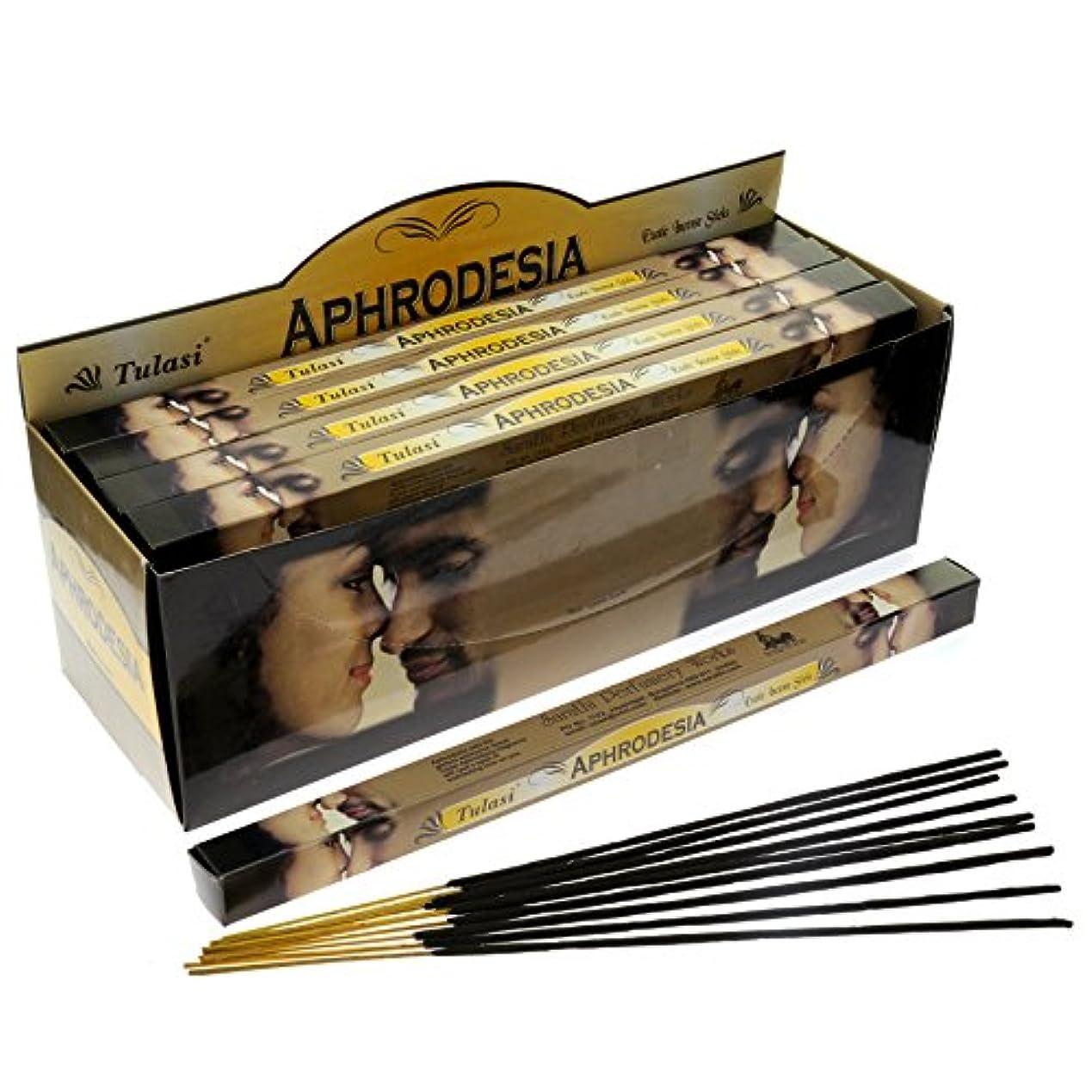 巻き戻す保証する使用法Tulasi Aphrodesia Incense, 8 Sticks x 25 Packs