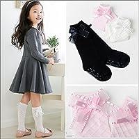 (キトハウス) KITOHOUSE アナスリボンハイソックス キッズ 女の子 18-20cm【5】 ピンク