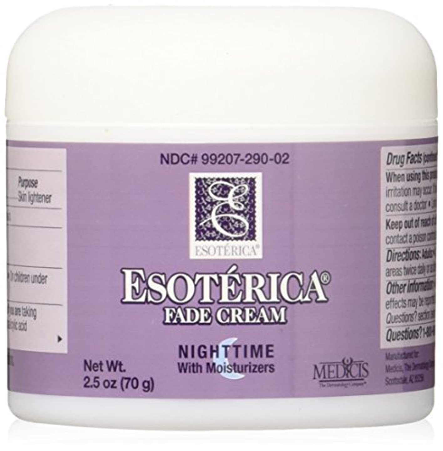 コンテンポラリー視聴者スロベニア海外直送品Esoterica Fade Cream Nighttime With Moisturizers, 2.5 oz by Esoterica