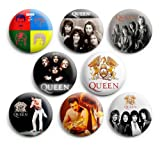 "Queen Pinbackボタンバッジ1.25?"" ( Set of 8?) Freddie Mercury Bandnew"