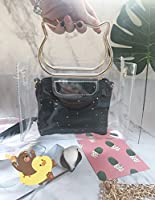 RBBB 小さい斜めのショルダーは夏季新金のinsの透明な小包の女の潮の韓国版を包んで1つの肩のチェーンの小さい仙女を包みます,黒