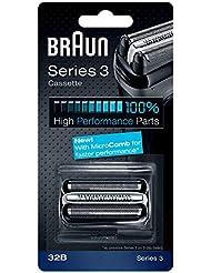 BRAUN 32B Series 3 Shaver Cassette MicroComb交換ヘッドをフォイルカッター& [並行輸入品]