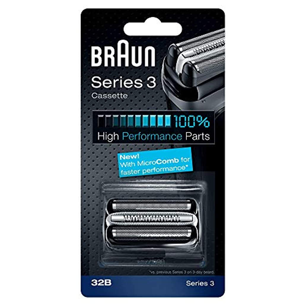 タップ角度トピックBRAUN 32B Series 3 Shaver Cassette MicroComb交換ヘッドをフォイルカッター& [並行輸入品]
