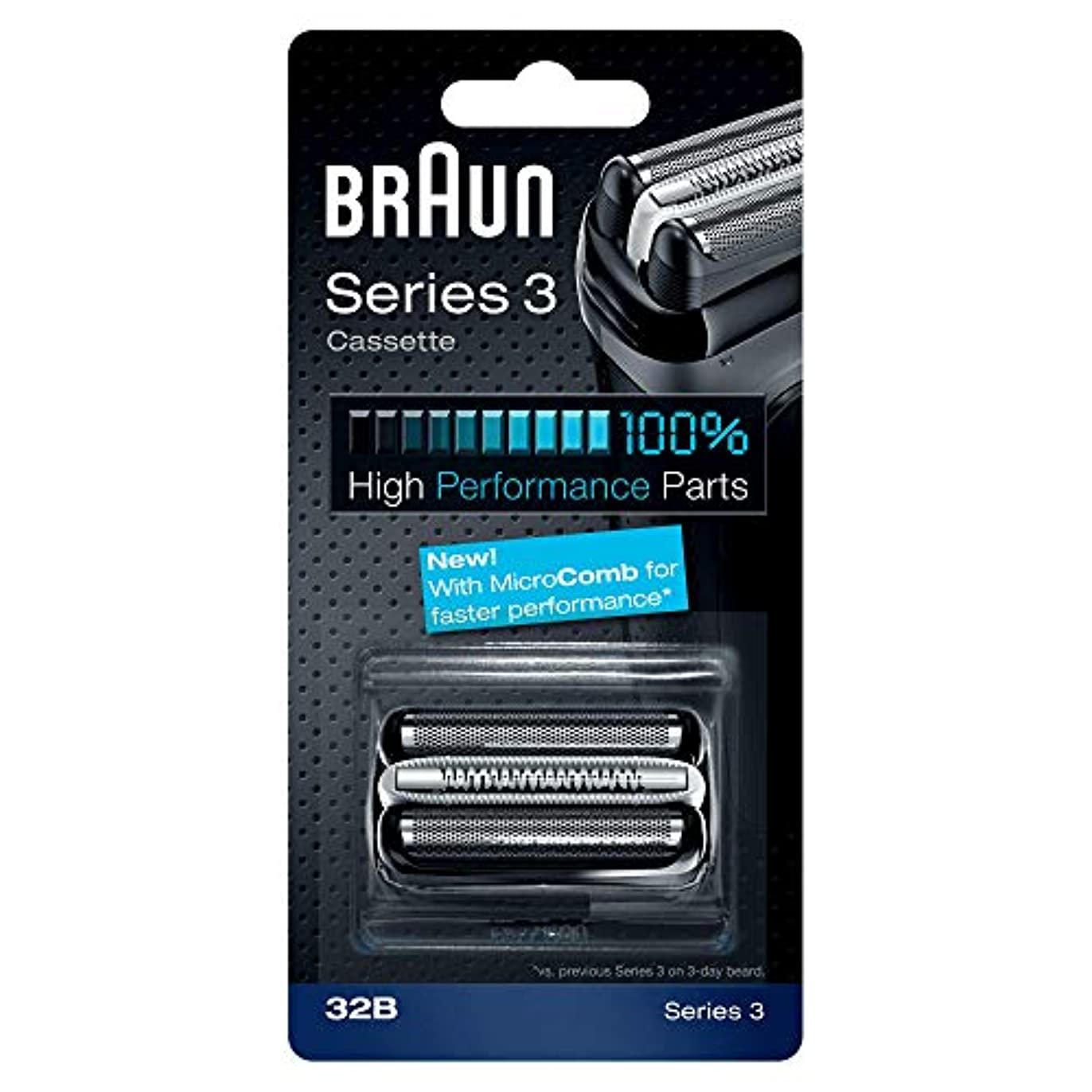 亜熱帯権威触覚BRAUN 32B Series 3 Shaver Cassette MicroComb交換ヘッドをフォイルカッター& [並行輸入品]