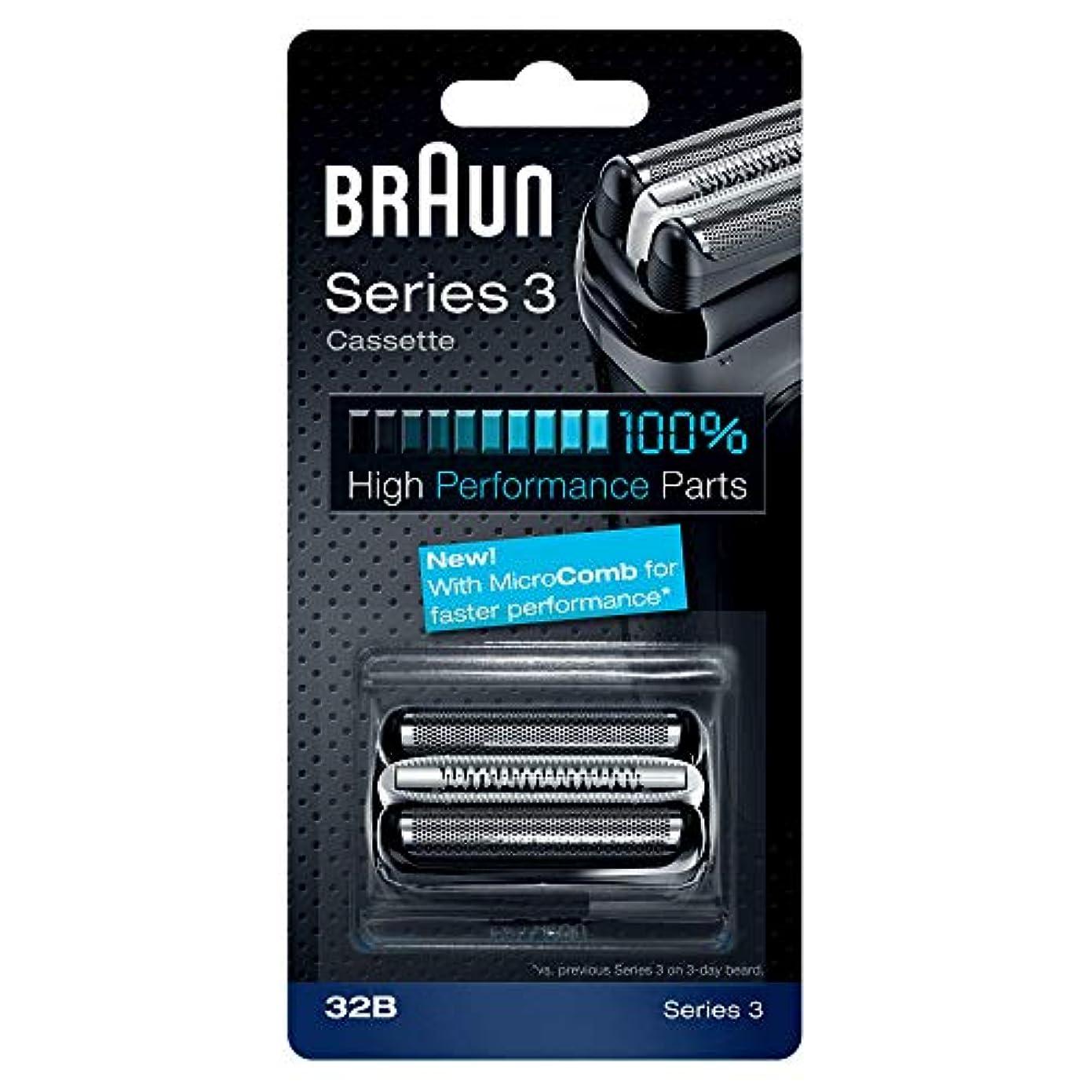 シャープクリーム四分円BRAUN 32B Series 3 Shaver Cassette MicroComb交換ヘッドをフォイルカッター& [並行輸入品]