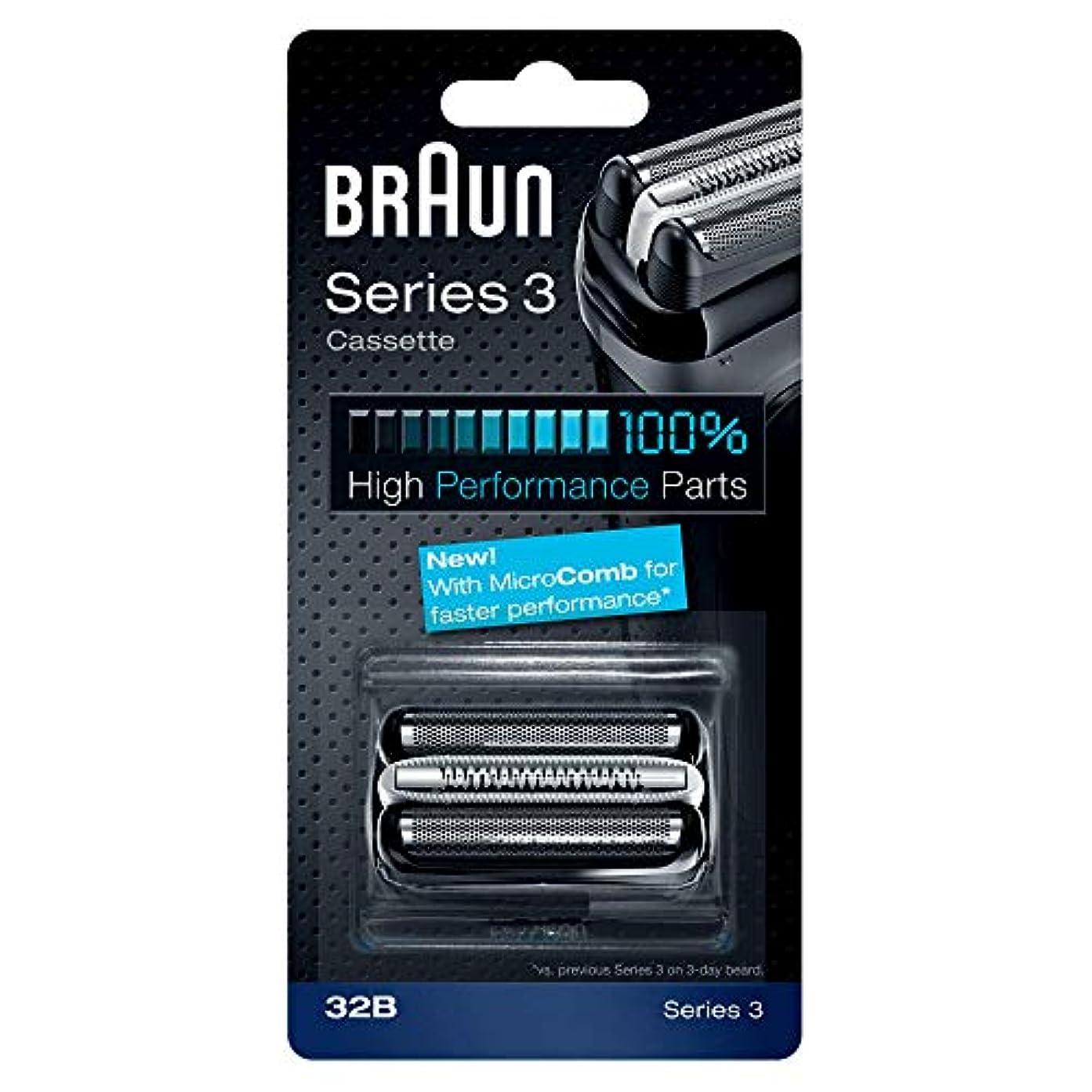 忙しい適用する広々BRAUN 32B Series 3 Shaver Cassette MicroComb交換ヘッドをフォイルカッター& [並行輸入品]
