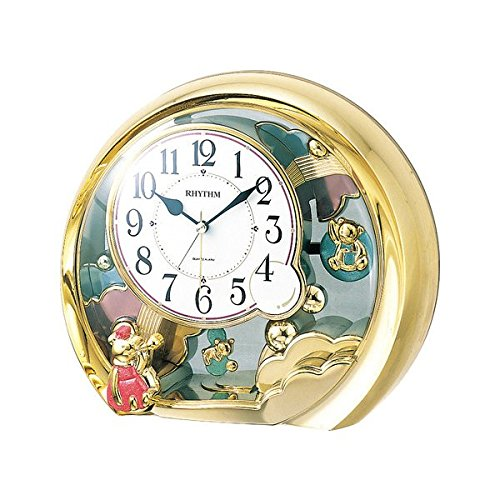 リズム[RHYTHM] 置き時計 メンズ レディース インテリア ファンタジーランド 寝具 収納 時計 金