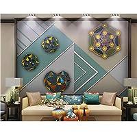 Mzznz カスタマイズされたモダンな幾何学的なグラフィック装飾画リビングルームの寝室の背景壁紙壁画-150X120Cm