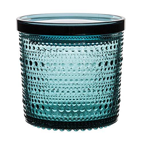 [ イッタラ ] iittala カステヘルミ ジャー 116 × 114mm 北欧 ガラス Kastehelmi Jar 1026962 蓋付き シーブルー Sea Blue 保存容器 キャニスター フィンランド キッチン [並行輸入品]