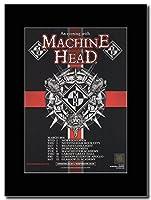 - Machine Head - UK Tour Dates March 2016. - つや消しマウントマガジンプロモーションアートワーク、ブラックマウント Matted Mounted Magazine Promotional Artwork on a Black Mount
